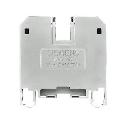 conector de passagem, 35mm, bege, parafuso 8WA1205