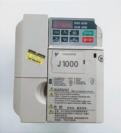 Inversor de frequencia 3cv 1,5kW 380Vca trifásico CIMR-JB4A0004BAA