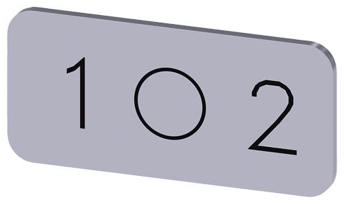 PLACA DE IDENT. AUTO ADESIVA OU ENCAIXE   3SU1900-0AC81-0QL0