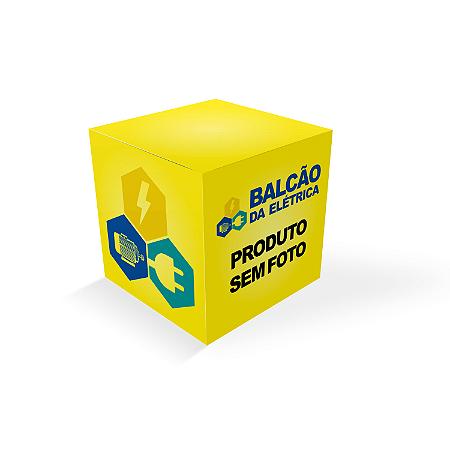 CAIXA PLASTICA AM/PR COM BOTAO EMERGÊNCIA VM 1NF + 1NA E PRENSA CABO PG7 METALTEX CP1002