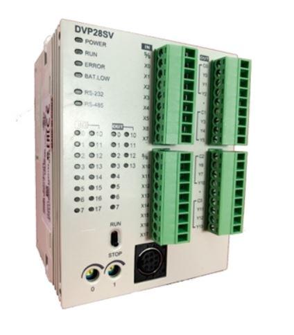 CLP Modelo SV2 com 16 Entradas e 12 Saídas Digitais a Relé e Alimentação 24Vdc DELTA DVP28SV11R2