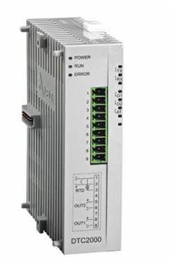 Controlador de temperatura DTC tipo modular com Unidade de extensão com 1 saída de tensão 12Vdc pulsada e 1 saída a Rele DELTA DTC2000V