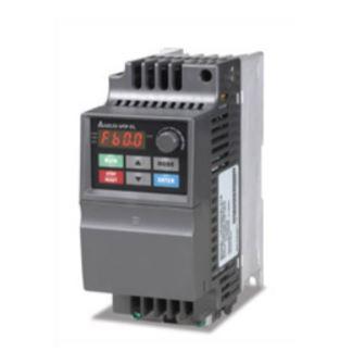 Inversor de Frequência 0,5CV (0,4KW) - Modelo EL - 220 Volts - Monofásico - Standard - Sem transistor de frenagem incorporado - utilizado para variação de velocidade de motores elétricos. DELTA VFD004EL21A