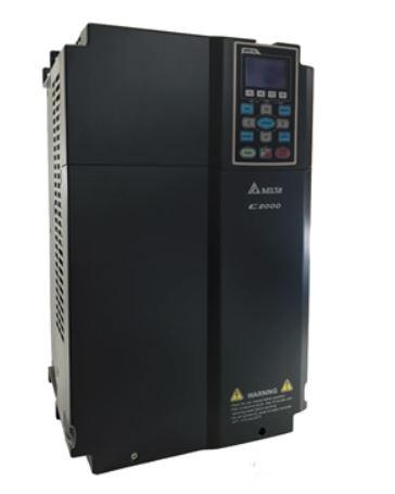 Inversor de Frequência 25CV (18,5KW) - Modelo C2000 - 380/480 Volts - Trifásico - Standard - utilizado para variação de velocidade de motores elétricos. DELTA VFD185C43A
