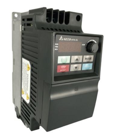 Inversor de Frequência 2CV (1,5KW) - Modelo E - 380/480 Volts - Trifásico - Driver Padrão - utilizado para variação de velocidade de motores elétricos. DELTA VFD015E43A
