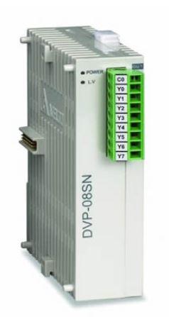 Módulo de expansão para CLP Modelo SS, AS, SX, SC ou SV com 8 Saídas digitais a Relé e Alimentação 24Vdc DELTA DVP08SN11R
