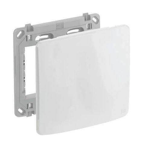 """WEG Compose Placa 4x4"""" cega + suporte cor BRANCA 13295559"""