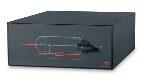 Painel de bypass para manutenção da APC 230 V; 100 A; interruptor MBB; cabeamento fixo de entrada; saída IEC-320, 8 C13, 2 C19 - SBP10KRMI4U