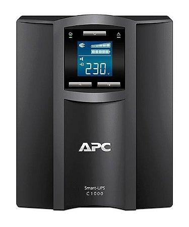 Nobreak APC inteligente Smart-UPS C 1000 VA 230 V, Brasil - SMC1000I-BR