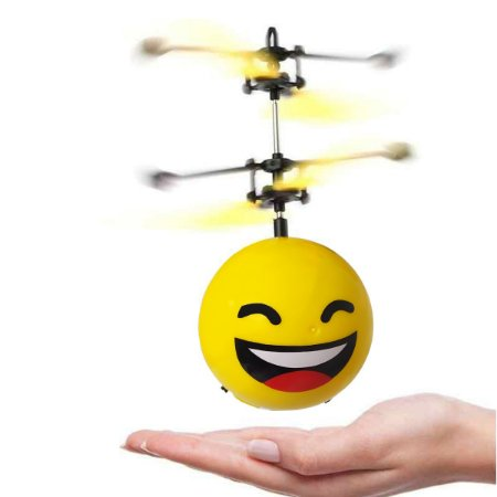 Drone Infantil Emoji Helicóptero Voa de Verdade Com Sensor