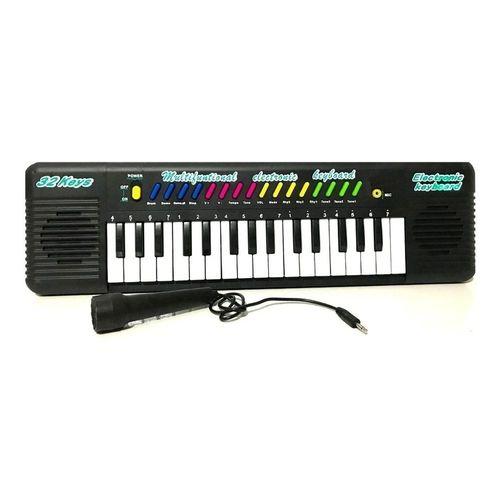 Teclado Musical Infantil Com 32 Teclas e Microfone