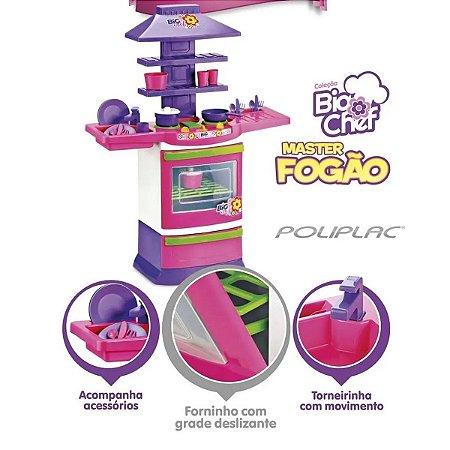 Cozinha Infantil Master Fogão Big Chef Poliplac