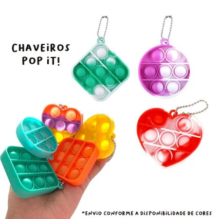 Pop it Chaveiro Fidget Toy Anti Stress