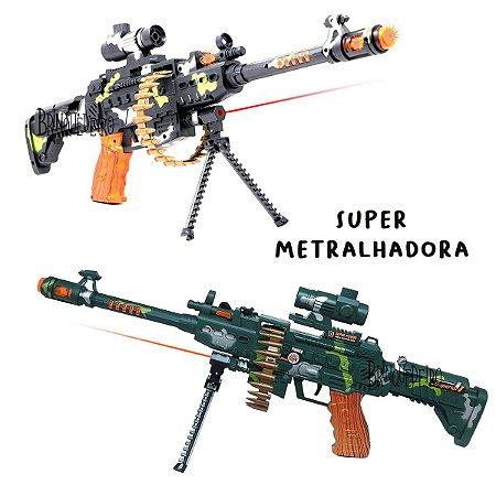 Arma de Brinquedo Laser com Som e Luz