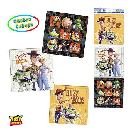 Kit com 3 quebra cabeças toy story