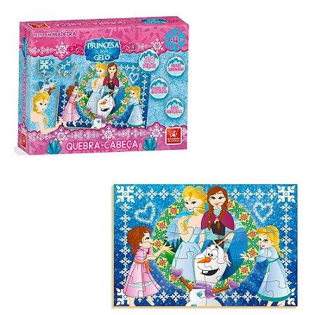 Quebra Cabeça Princesa do Gelo c/ 30 peças