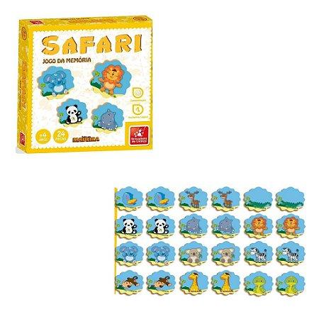 Jogo da memoria Safari em madeira educativo