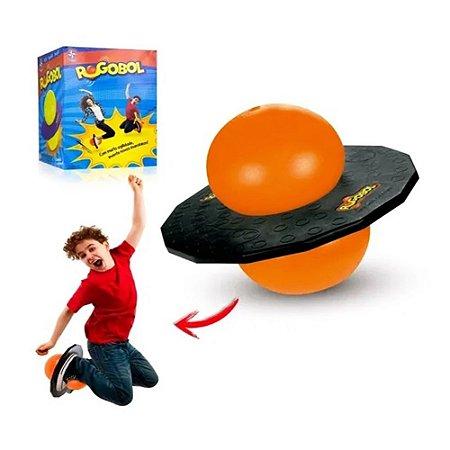Brinquedo Pogobol preto com laranja- Estrela