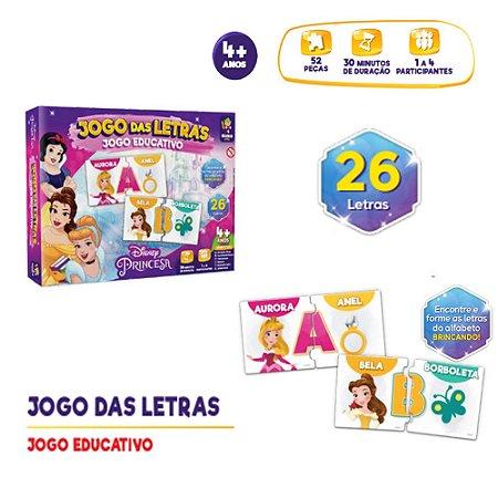 Jogo educativo Princesa Disney Jogo das Letras