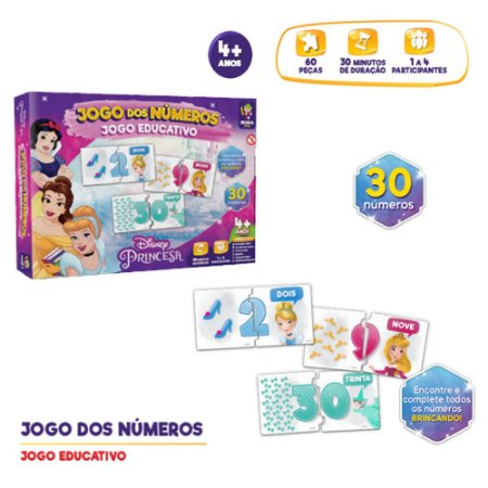 Jogo educativo Princesa Disney Jogo dos Números