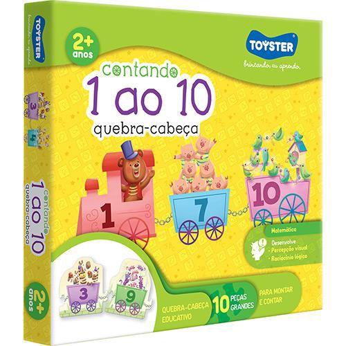 QUEBRA CABEÇA CONTANDO DE 1 AO 10 TOYSTER