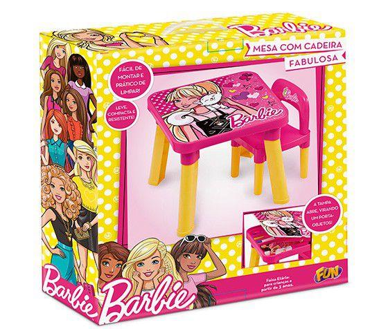 Mesinha Barbie com Cadeira e Porta Objetos Meninas