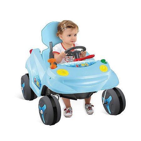 Smart Baby Reclinável Azul - Bandeirante Brinquedos