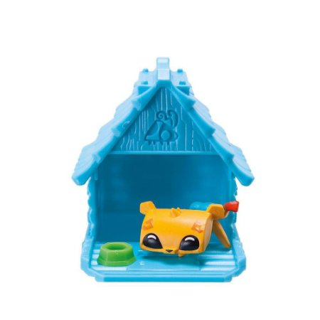 Casinha Surpresa Azul - Animal JAM - Adote Um Pet - Fun