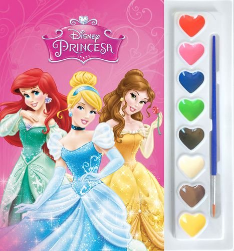 Mini Aquarela - Disney Princesas - Livro Para Colorir