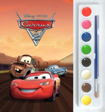 Mini Aquarela Carros 2 Livro Para Colorir Brinquedeiro