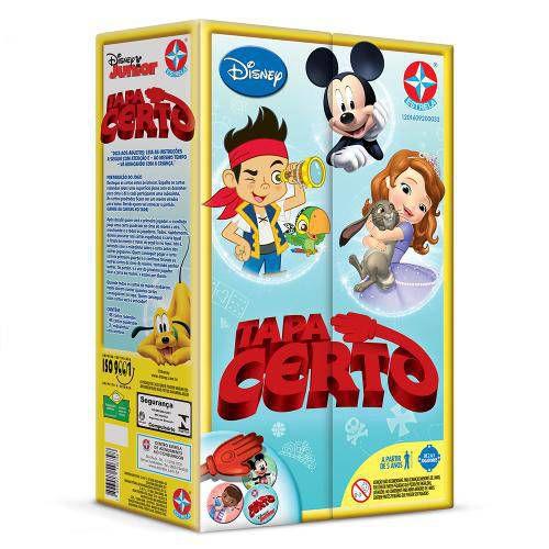 Jogo - Tapa Certo Disney Jr - Estrela