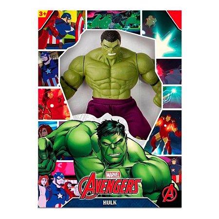 Boneco Hulk Vingadores 50cm Gigante Marvel Revolution Mimo