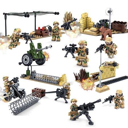 Blocos de montar Soldados do Exército 120 peças 82013