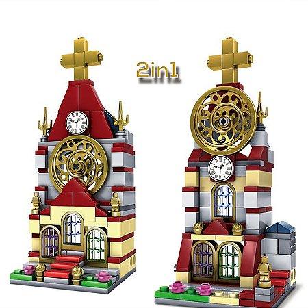 Blocos de montar Arquitetura de Igreja 142+ peças 5001