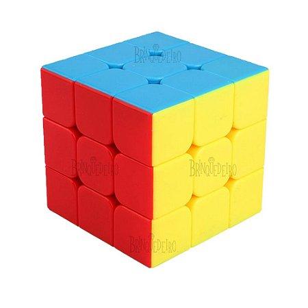 Cubo Mágico Semiprofissional 3x3x3 Controle de Tensão Corte de Quina Speed Cube