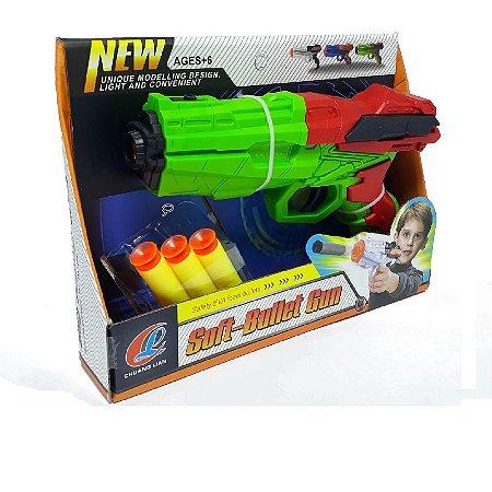 Lançador de Dardos tipo Nerf Infantil Verde