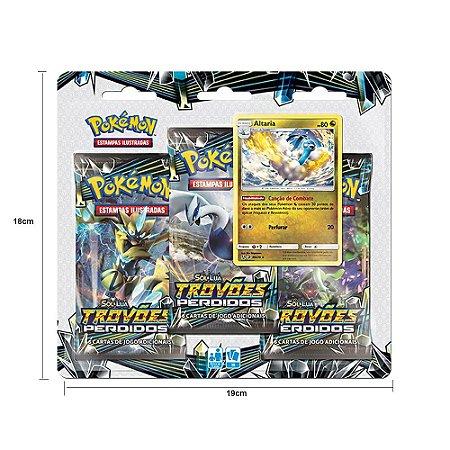 Triple Pack Carta Pokémon Altaria Copag Estampas Ilustradas 3 Pacotes Booster e 1 Carta Especial