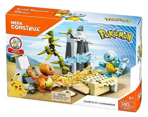 Brinquedo Montar Mega Construx 140pcs Pokémon Batalha Mattel