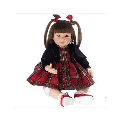 Bebê Reborn Red Xadrez Laura Boneca Realista Retirada