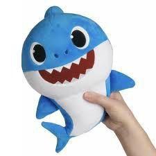 Pelúcia Tubarão Peixe Baby Shark 30cm Azul Musical Toyng que Canta Original