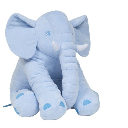 Animal de Pelúcia Gigante 60 Cm Elefante Azul Buba Almofada