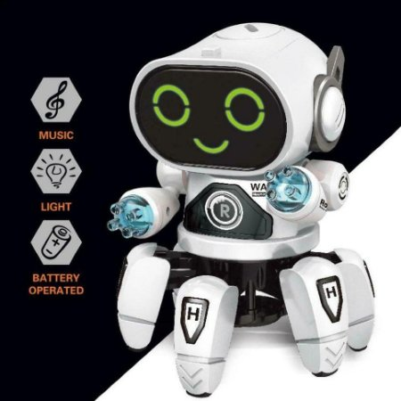 Robo de Brinquedo Animal Carangueijo Anda Dança Musica C/Som
