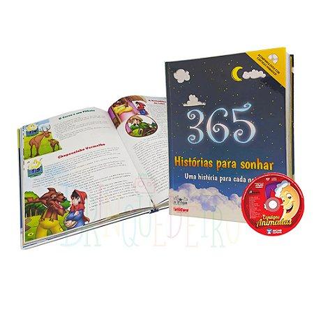 Livro Infantil Colorido 365 Histórias Para Ler E Sonhar