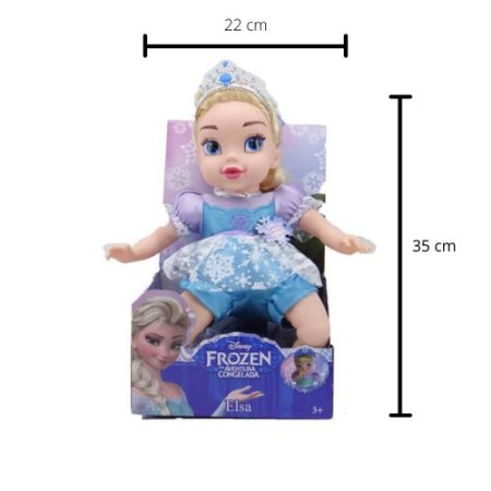 Boneca Bebê Elsa Frozen 30cm Com Som Disney Meninas