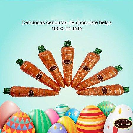 Kit 5 Cenouras De Chocolate Belga Páscoa