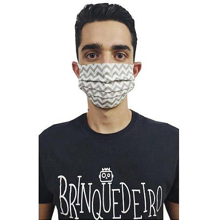 Mascara de Tecido Pano não Descartável Proteção Maxima Reutilizáveis Lavável Duas Camadas Adulto
