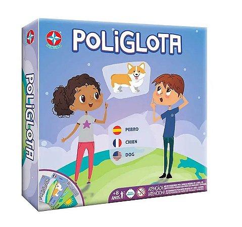 Jogo Poliglota Estrela Aprenda francês, espanhol e inglês
