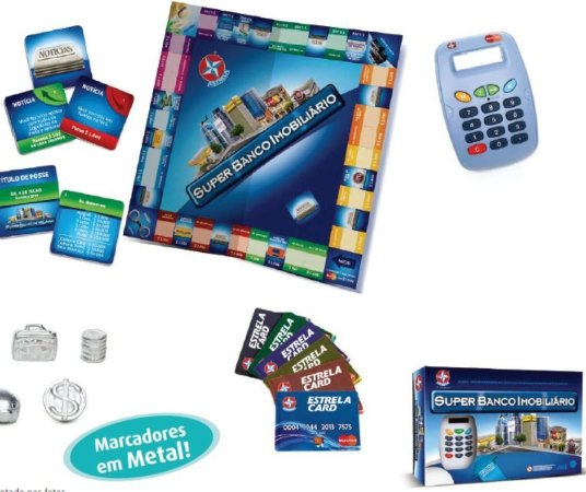 Super Banco Imobiliario Estrela Original Com Cartao
