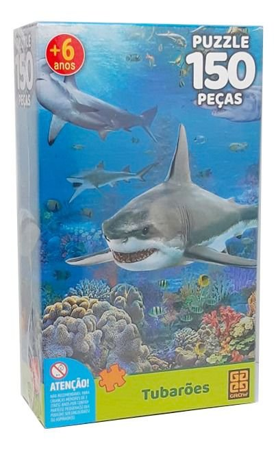 Quebra Cabeça Tubarão 150 Peças Grow