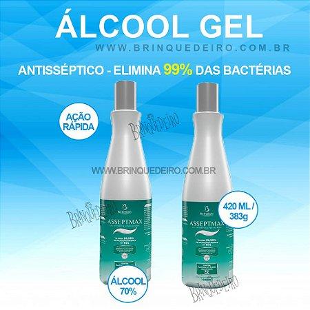 Kit 2 Álcool em Gel 70% para as Mãos Antisséptico Asseptmax